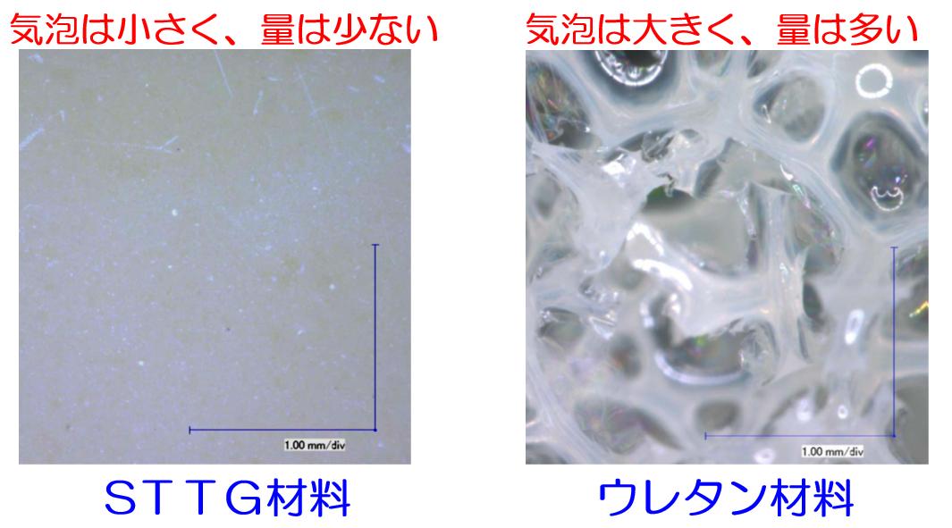 硬化後の止水剤の表面状況