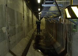 下水処理場 管廊部